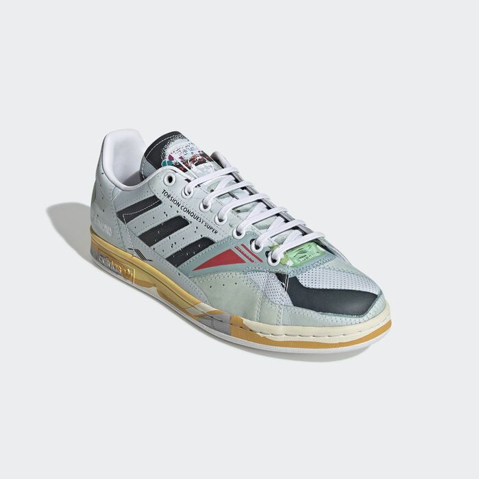 Adidas by Raf Simons Sneaker low TORSION STAN SMITH Kalbsleder Logo Print grau