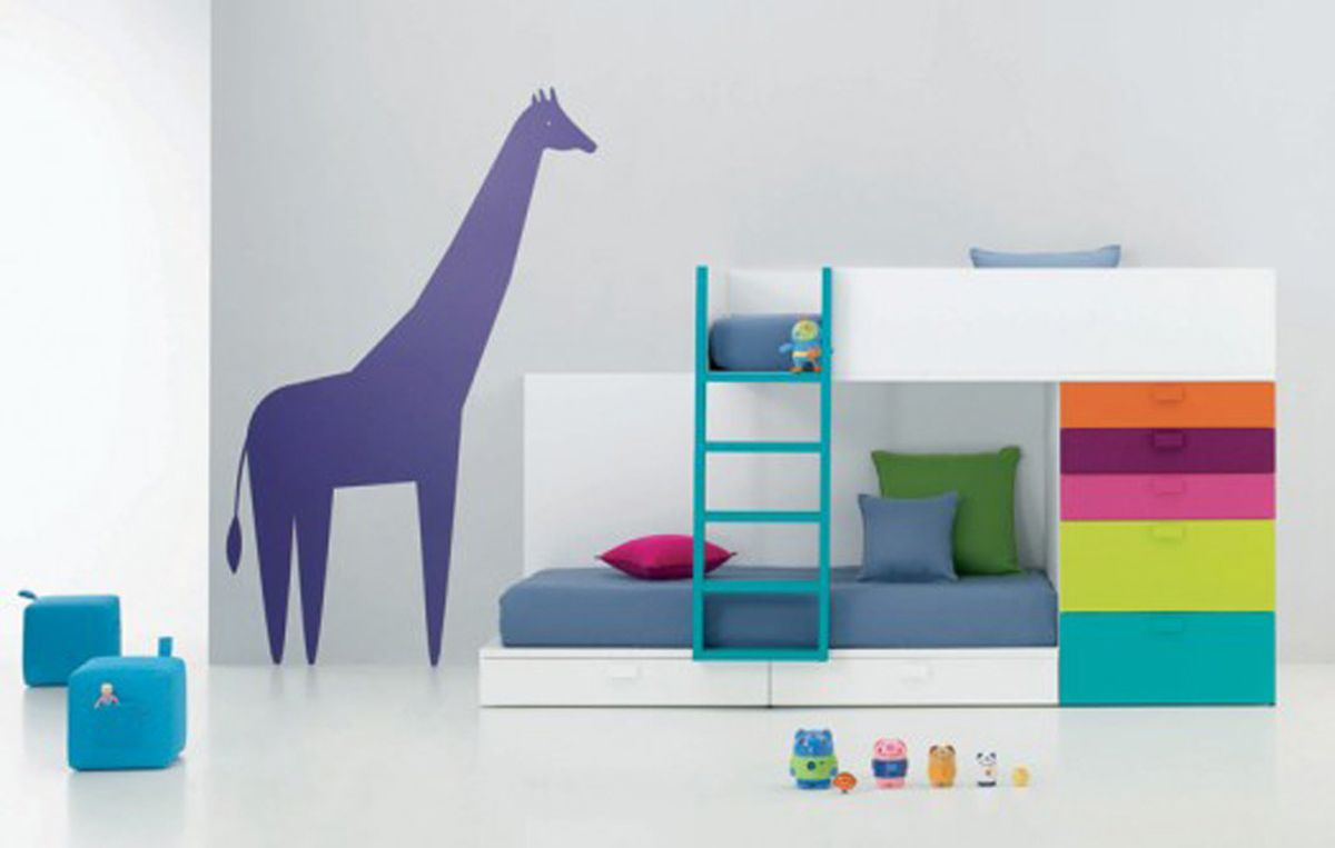 likable bedroom design brilliant retro kids bedroom feats cute bunk bed concept ideas and stunning white - Kids Interior Design Bedrooms