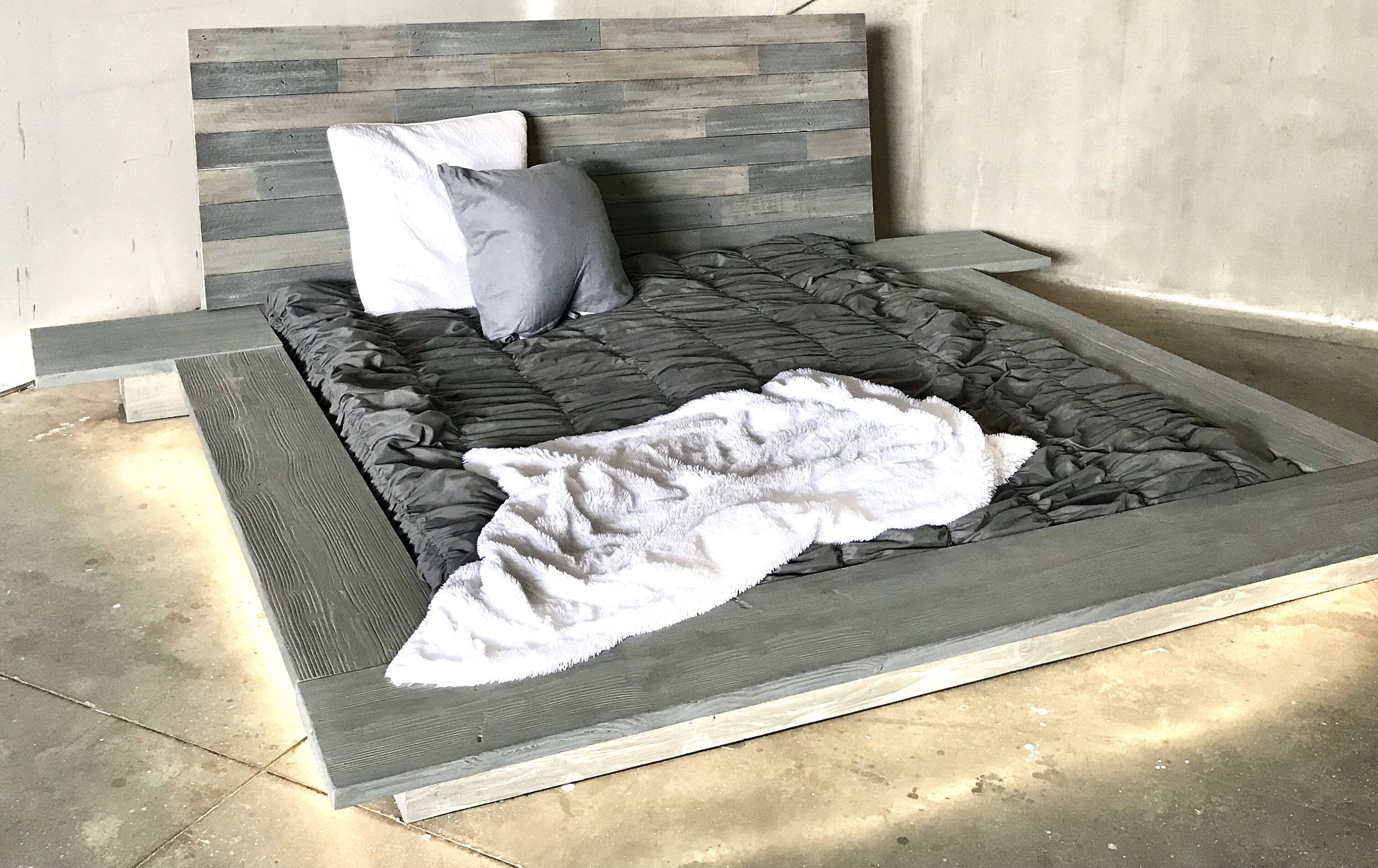 Christine Modern sleek Low Platform solid wood Bed