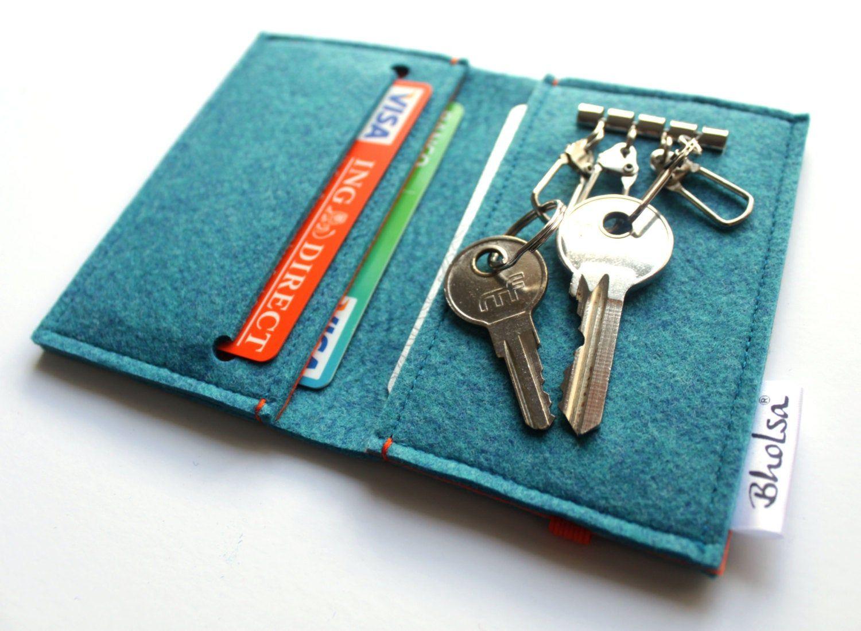 Card holder keyring felt wallet keyring key holder