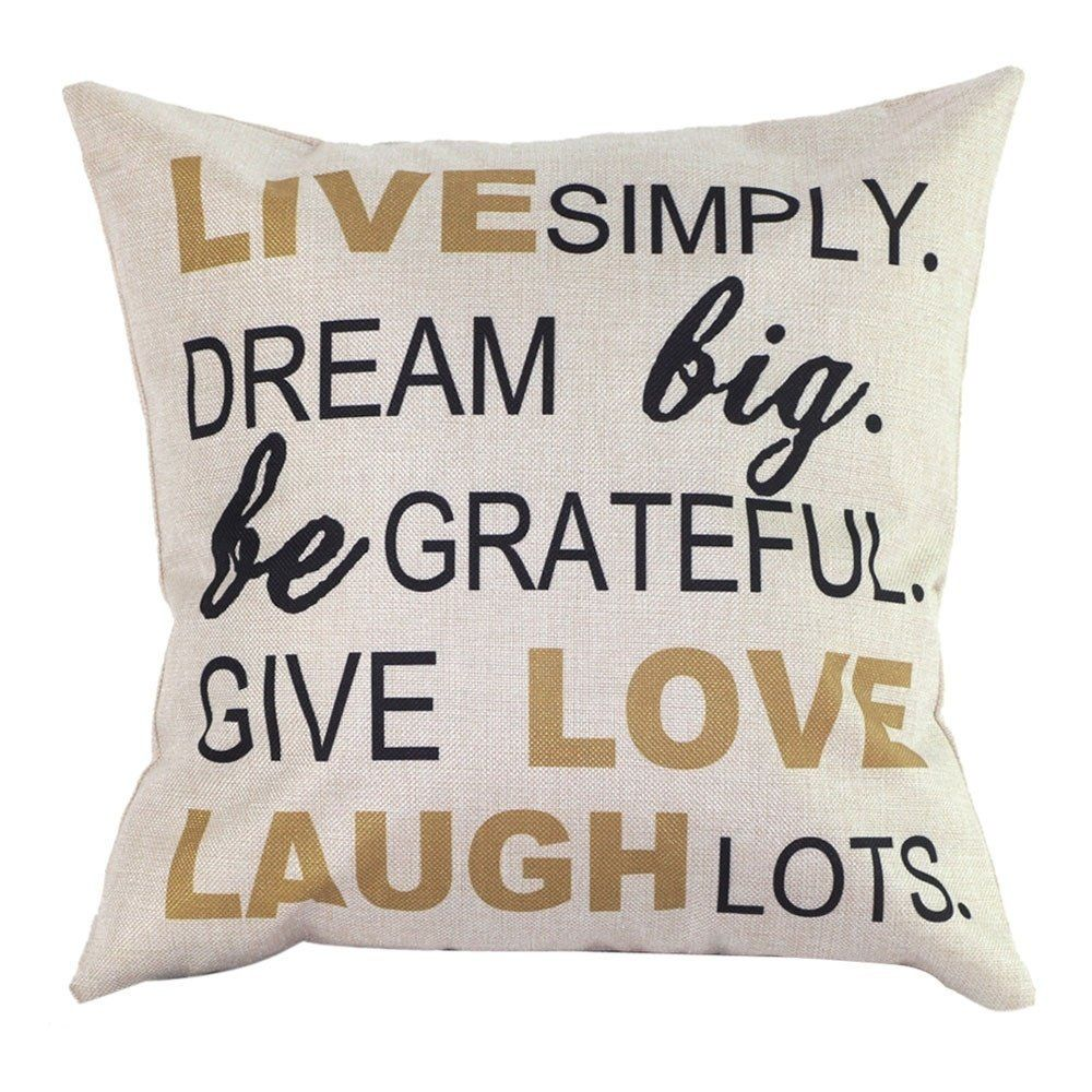 Amazon auhko pillow case decorative cushion cover sofa chair