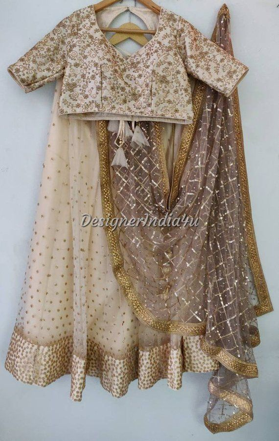 2a5eb601ed Ivory Color Heavy Embroidered Wedding Party Wear Indian Designer ...