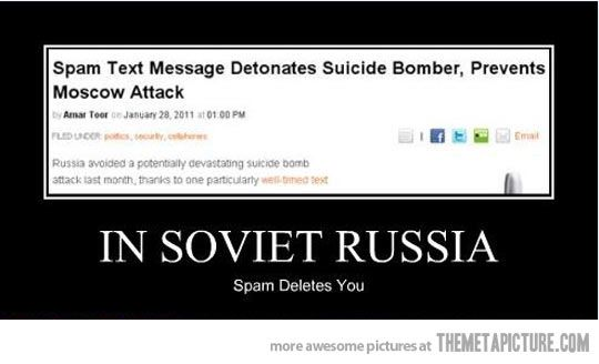 Things work differently in mother Russia…