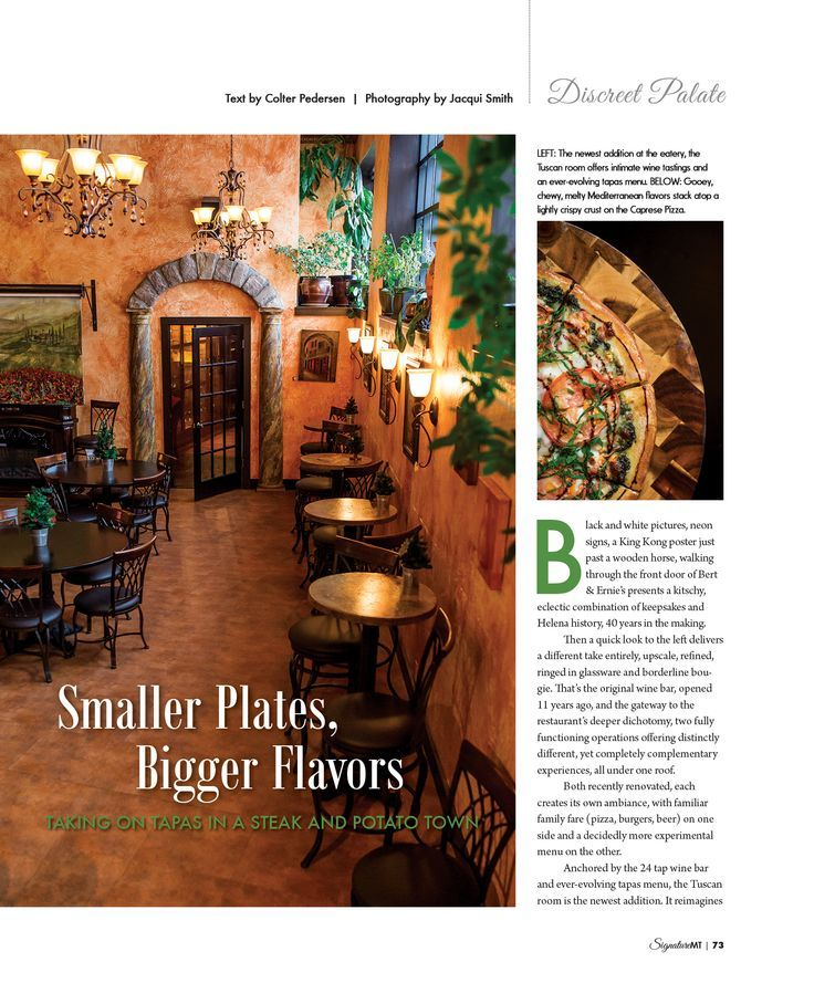 Looking For A Great Restaurant In Helena Montana Bert Ernie S Has You Covered Make Sure To Check Out Their New Wi Great Restaurants Wine Bar White Picture