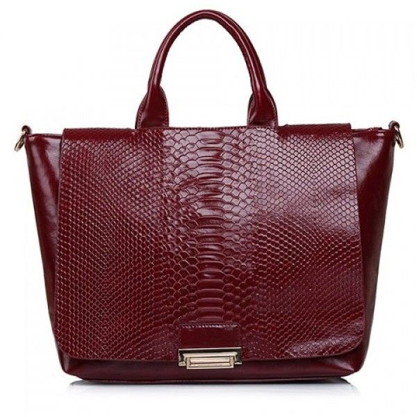 Fashionable Snake Print And Solid Color Design Womens Tote Bag 38