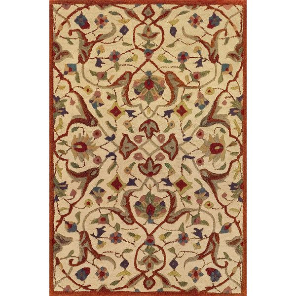 Essex Cinnamon Tufted Wool Rug design by Dash & Albert (€110) ❤ liked on Polyvore featuring home, rugs, dash albert rug, asian rugs, tufted wool rug, oriental rugs and oriental style rugs