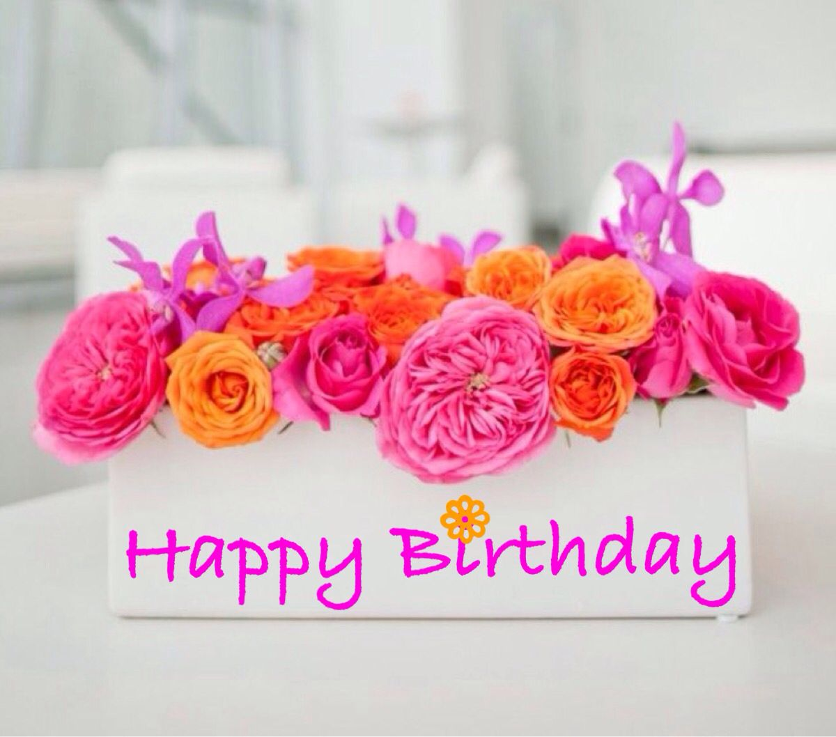 Birthday Flowers Images With Quotes: Happy Birthday €�
