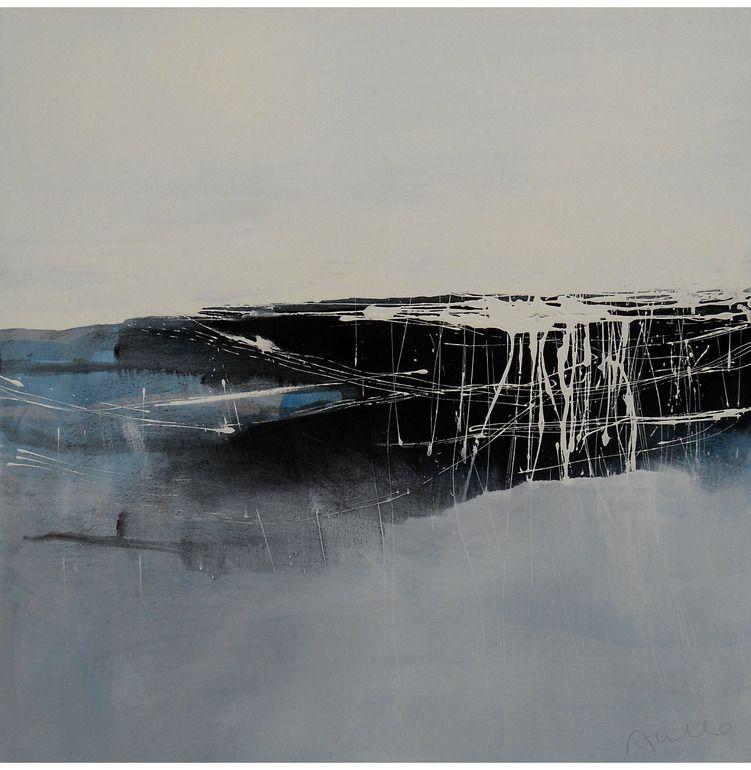 "Saatchi Online Artist: Aiello Sergio; Mixed Media, 2012, Painting ""Crossing the Black: landscape #2"""