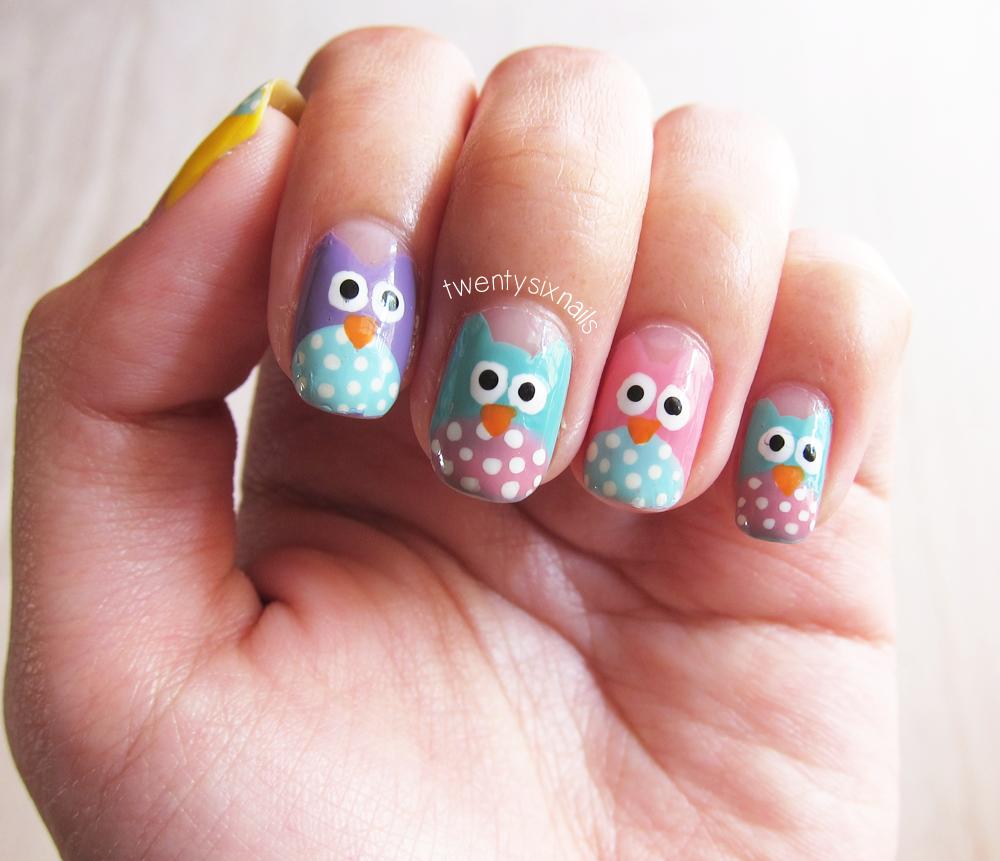 Owl Nail Art Designs Facebook Nail Designs Cute Nail Designs For