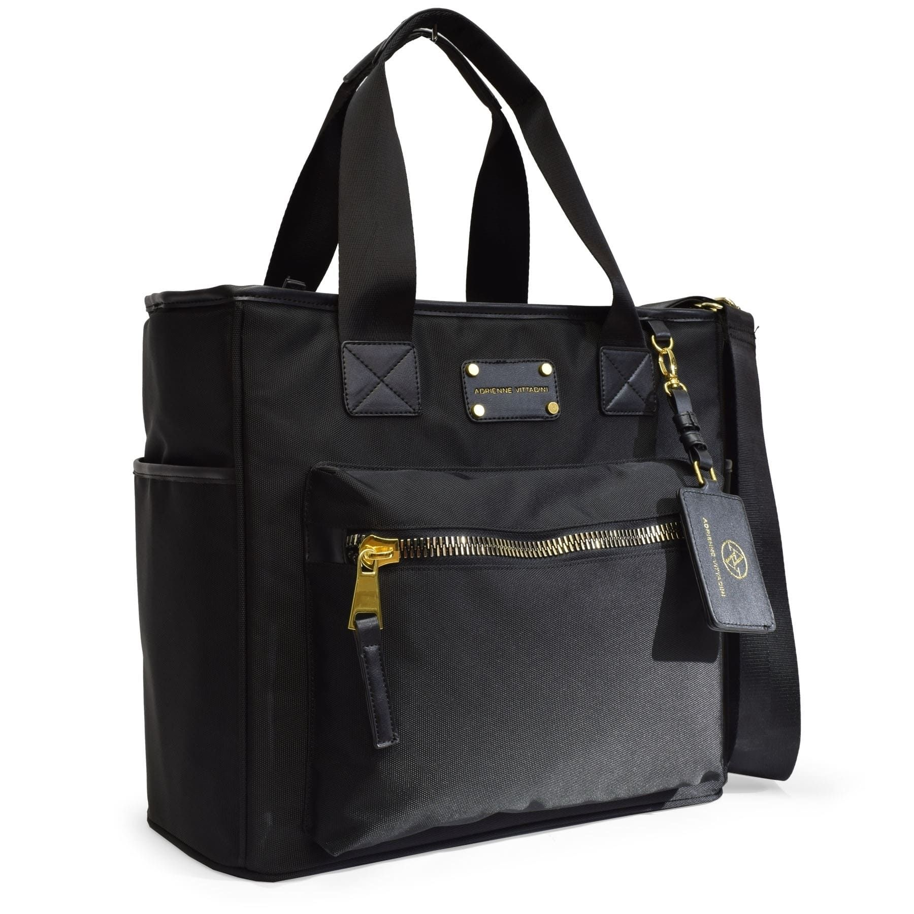 77c211ef8a90 Quilted Nylon Tote Bag With Laptop Sleeve By Adrienne Vittadini in ...