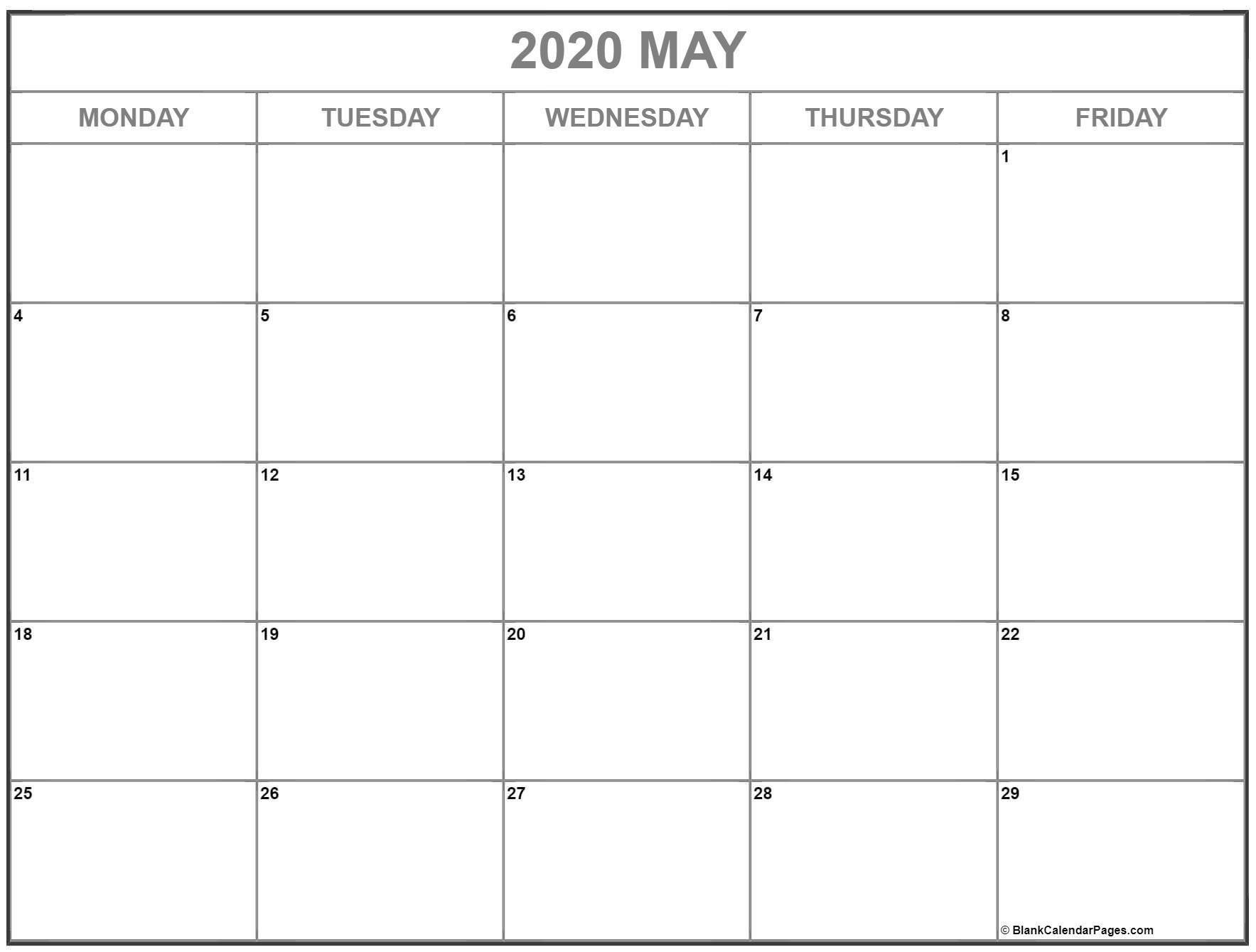 Perfect Free Printable Monday Through Friday Calendar Calendar Printables Free Calendar Template Printable Calendar Template Monday to friday calendar template