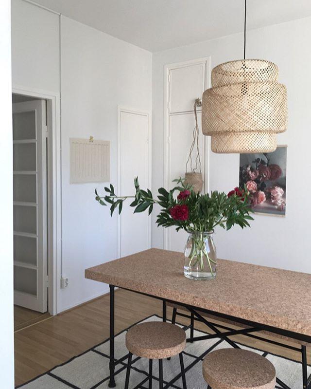 Ikea 'Sinnerlig' Dining Table & Pendant Lamp @pinja