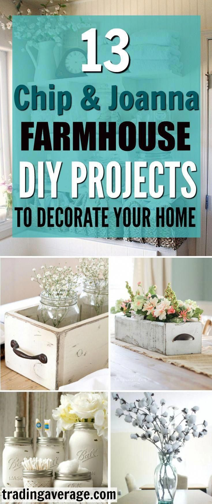 Are you looking for Farmhouse Decor projects, inspired by Chip and Joanna Gaines? This article will give you 13 amazing DIY Farmhouse projects that you will love! #countryfarmhousedecorbedroom #farmhouselivingroomdecor #chipandjoannagainesfarmhouse