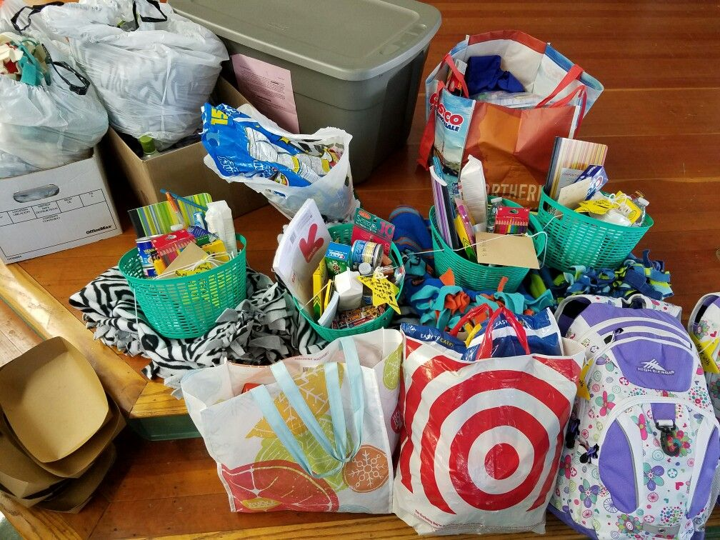 Donations from Northwood Elementary School..