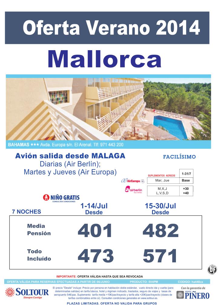 Mallorca: Oferta Hotel Bahamas salidas desde Málaga ultimo minuto - http://zocotours.com/mallorca-oferta-hotel-bahamas-salidas-desde-malaga-ultimo-minuto-2/