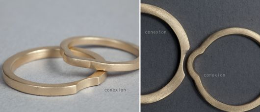 ¡LOVE IT! Las alianzas en oro ecológico de Lia Terni #anillos #boda #weddingrings