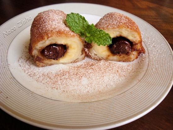 Banana recheada com nutella - NacoZinha - Blog de culinária, gastronomia e flores - Gina