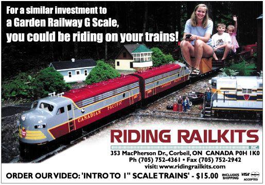 ride on garden railroads | Rideable Trains | Garden trains ...
