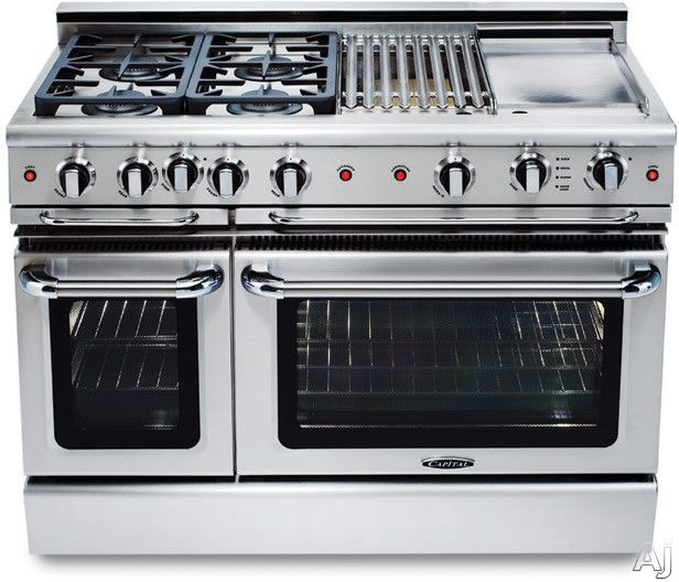 Capital Gscr486gn 48 Pro Style Gas Range With 6 Power Flo Sealed Burners 4 6 Cu Ft Primary Oven Capacity Co Cooking Range Kitchen Appliances Kitchen Stove