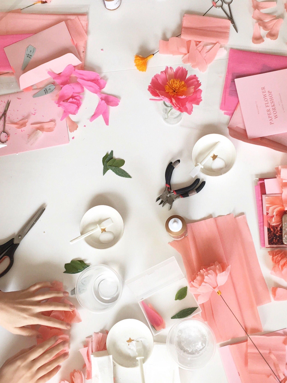Uk Paper Flower Workshop With A Petal Unfolds Paper Flowers