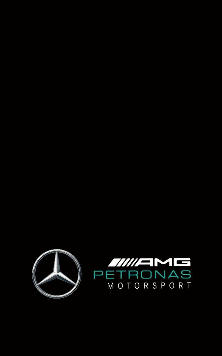 Amg Petronas Motorsports Wallpaper Black Logo Low Mercedes