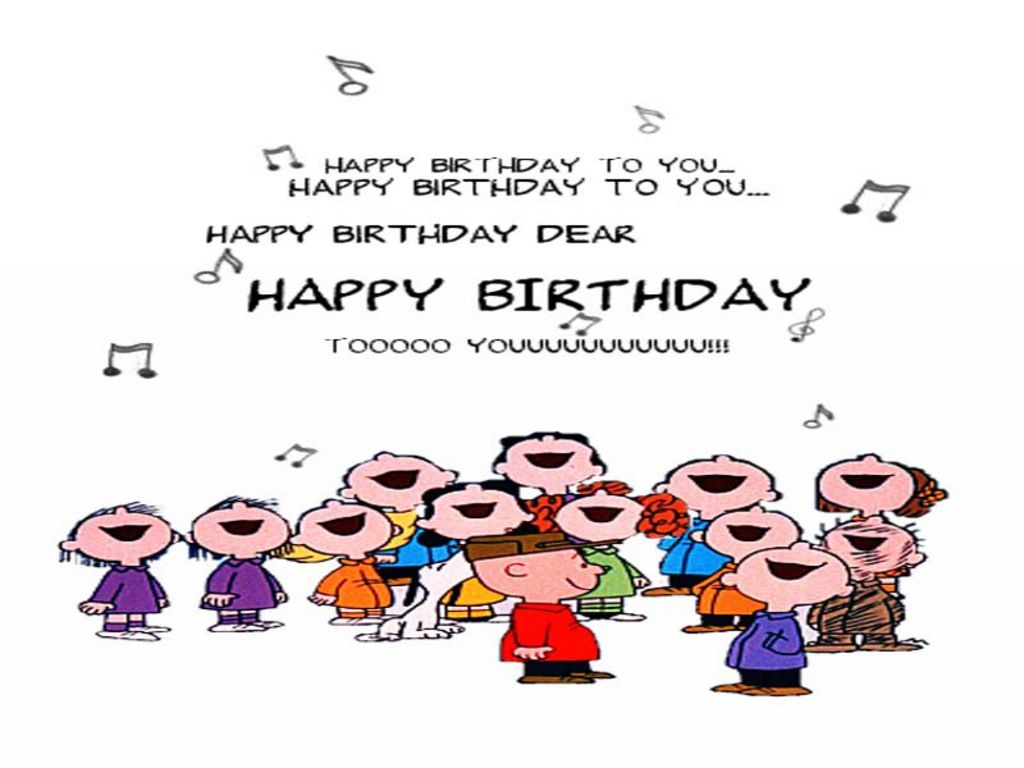 Wallpapers Birthday Card The Free Charlie Brown 1024x768 – Happy Birthday Singing Cards Free