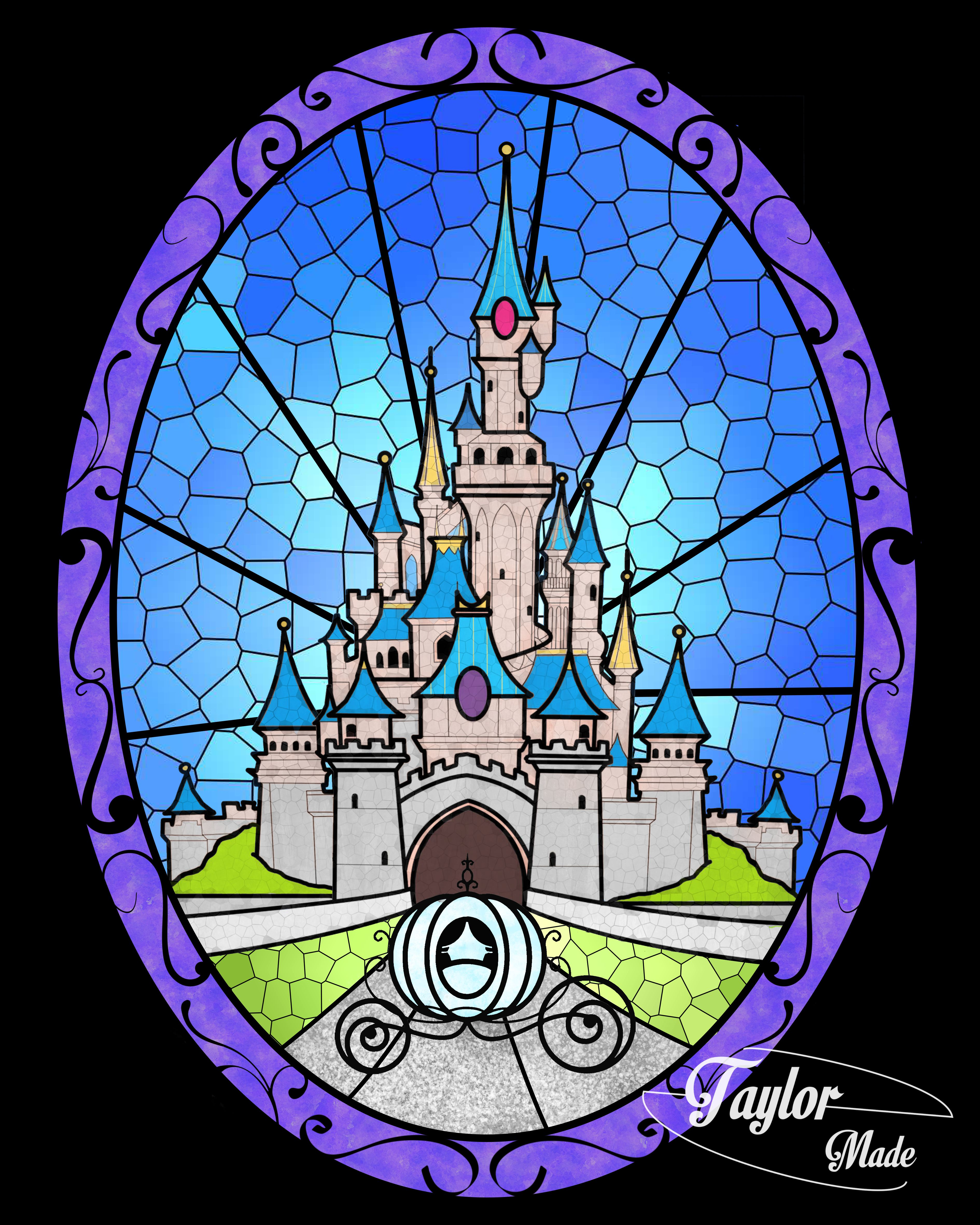 cinderella's castle stained glass effect | naty & dary | pinterest