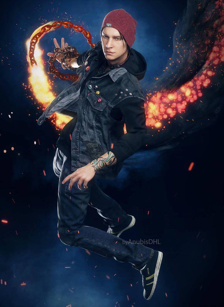 Delsin Rowe by AnubisDHL | Personajes de juegos, Wallpapers de ...
