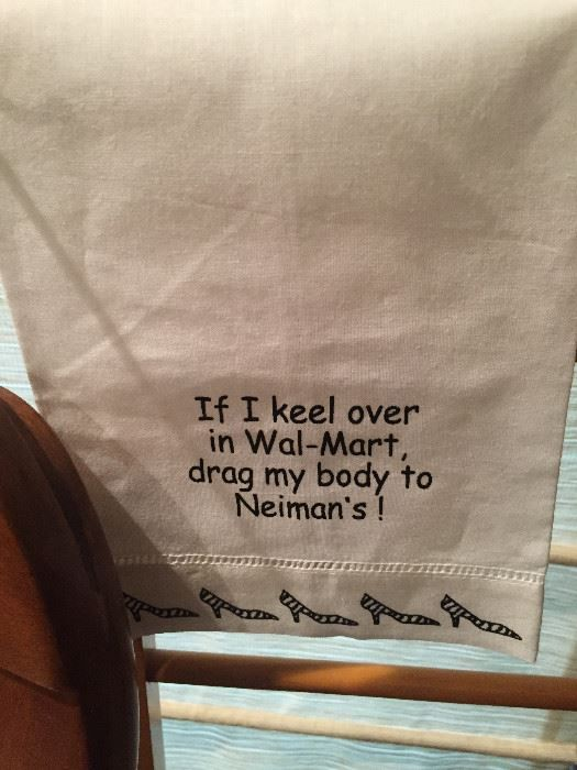 Found on EstateSales NET: If I keel over in Wal-Mart drag my body to