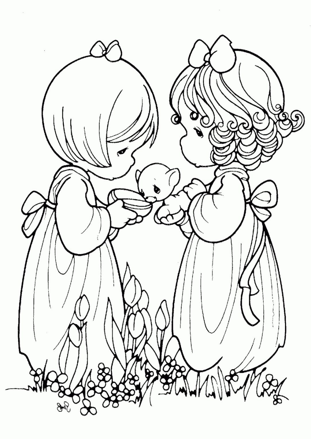 precious-moments-christmas-coloring-pages-printable ... | 1408x1000