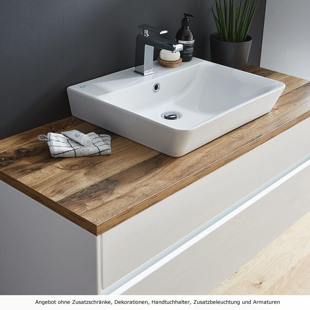 Puris UNIQUE Waschtisch-Set 120 cm mit Keramik-Aufsatz-Waschtisch