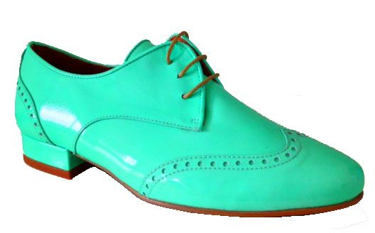 Aqua Leather Brogue - They combine tradition with chic. Their stitching has soul and there's nothing straight laced about these shoes... Small size shoes have never looked so appealing. Do you dare to go bold?