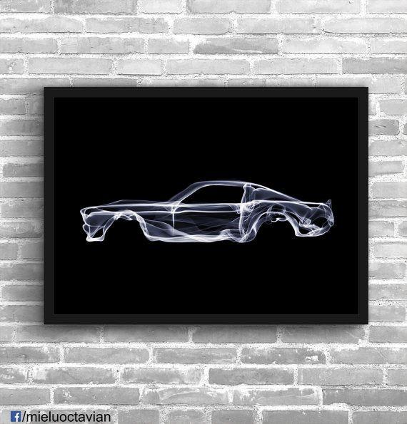 Ford Mustang Art Wall Art Classic Car Man Cave Muscle Car Gift Etsy Shelby Cobra Art Cobra Art Wall Art Prints