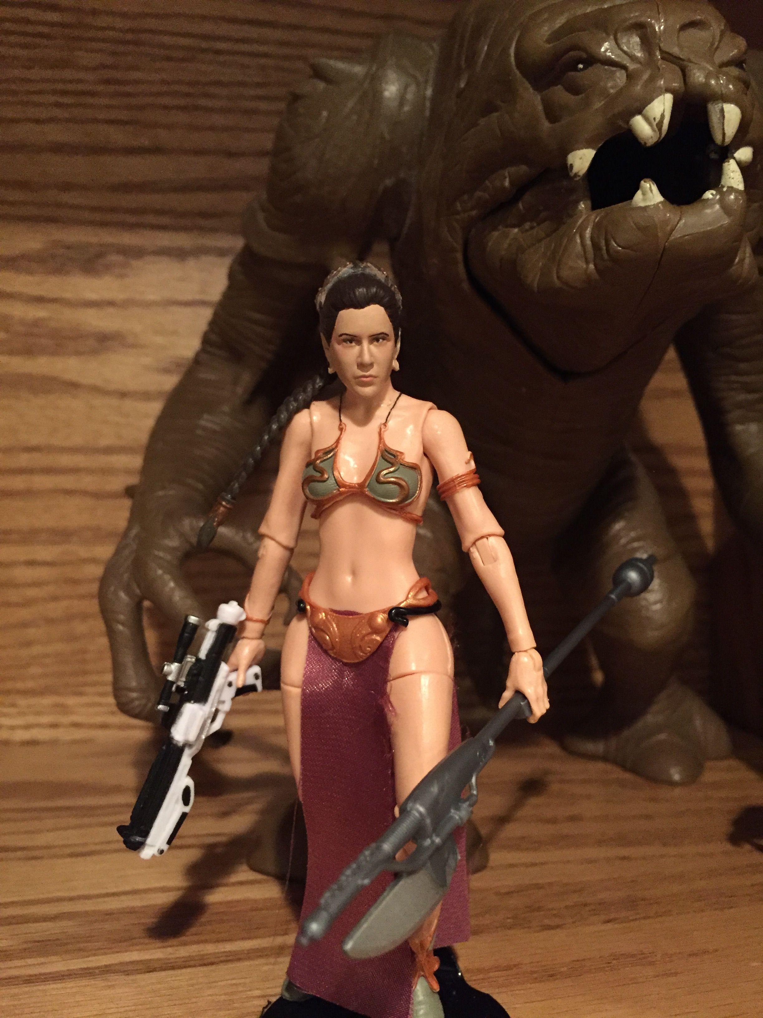 Slave Leia Star Wars Black Series Action Figure Custom Repaint 6