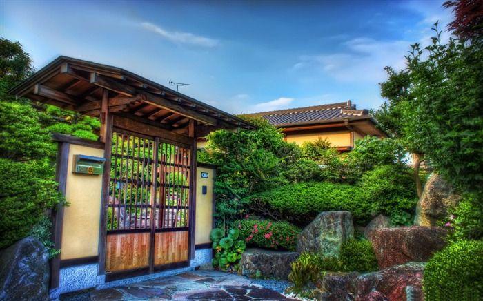 porte en bois-Fond d'écran paysage japonais Fond d'écran aperçu - 10wallpaper.com