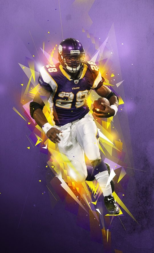 Digital Artworks By Pete Harrison Adrian Peterson AKA ALL DAY AD The Diesel Mr 28 Vikings RB Minnesota And Former Oklahoma Sooners