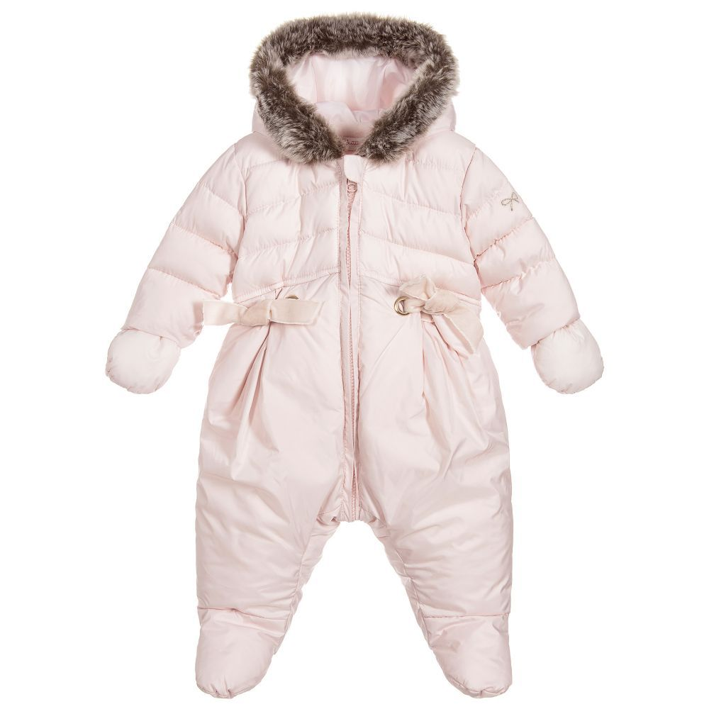61deca09c Baby Girls Pink Snowsuit for Girl by Lili Gaufrette. Discover more ...
