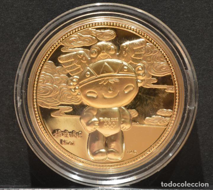 Medalla Proof En Capsula Conmemorativa Mascota Juegos Olimpicos De