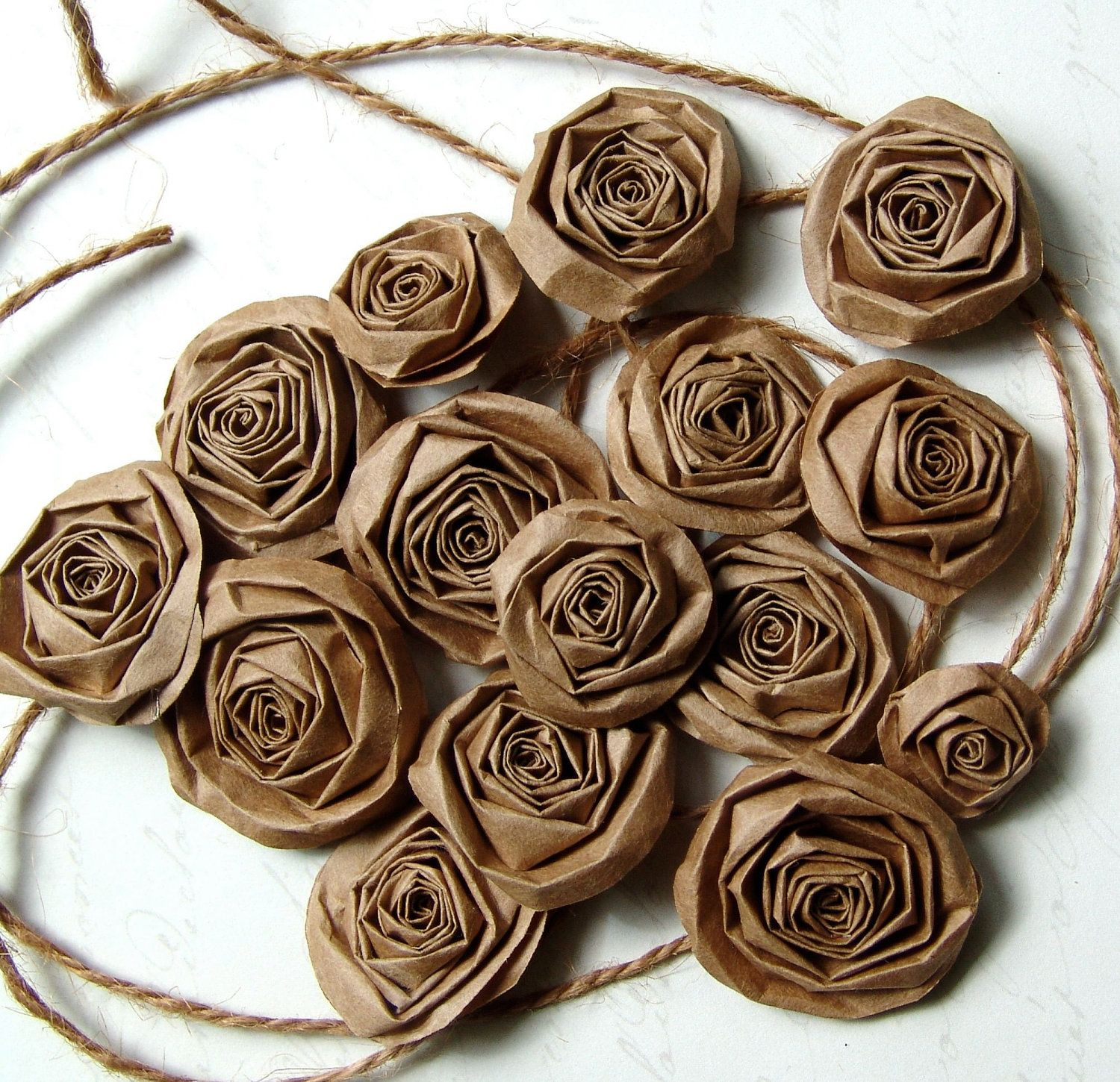 Brown bag roses (Kraft paper can be used too) I think ...