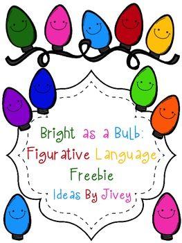 bright as a bulb figurative language freebie christmas activities