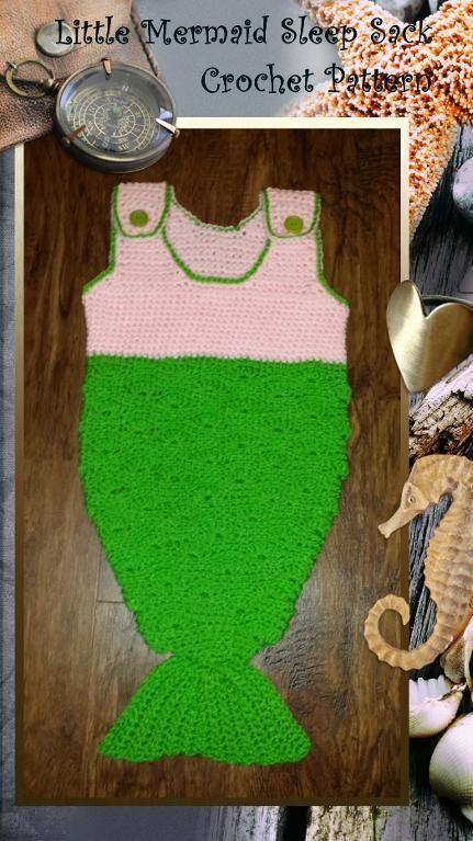 Little Mermaid Sleep Sack Crochet Patter | Pinterest | Manta ...