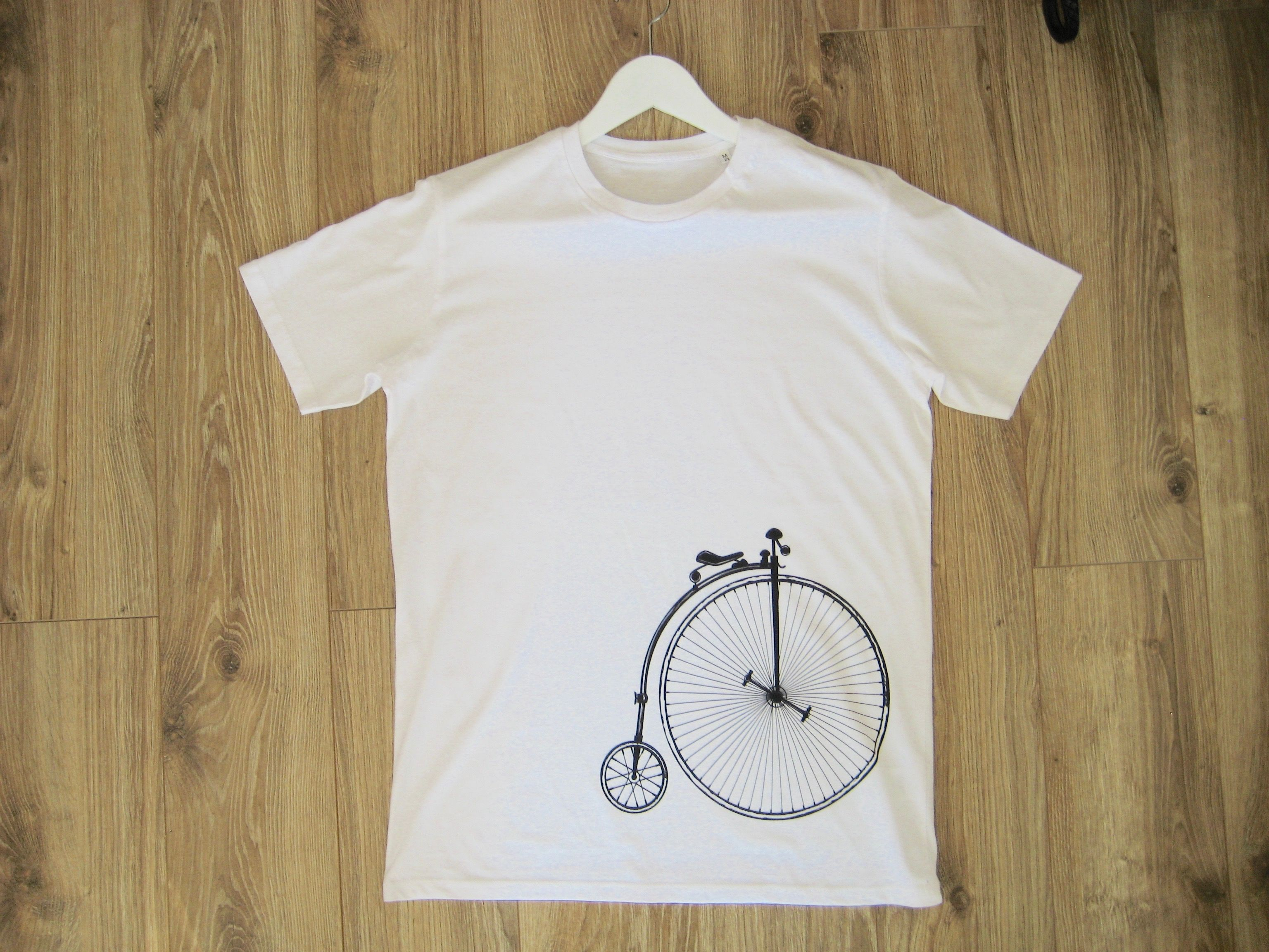 Premium quality t-shirt - 100% organic cotton. Print is created based on the Victorian bicycle. Worldwide delivery.  Price: 25$