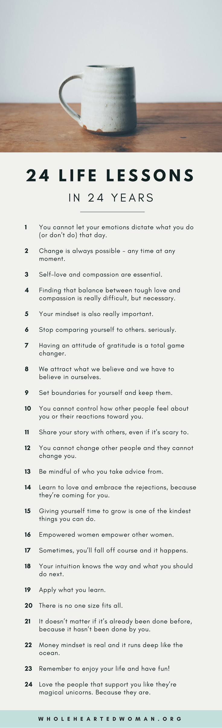 24 Life Lessons In 24 Years