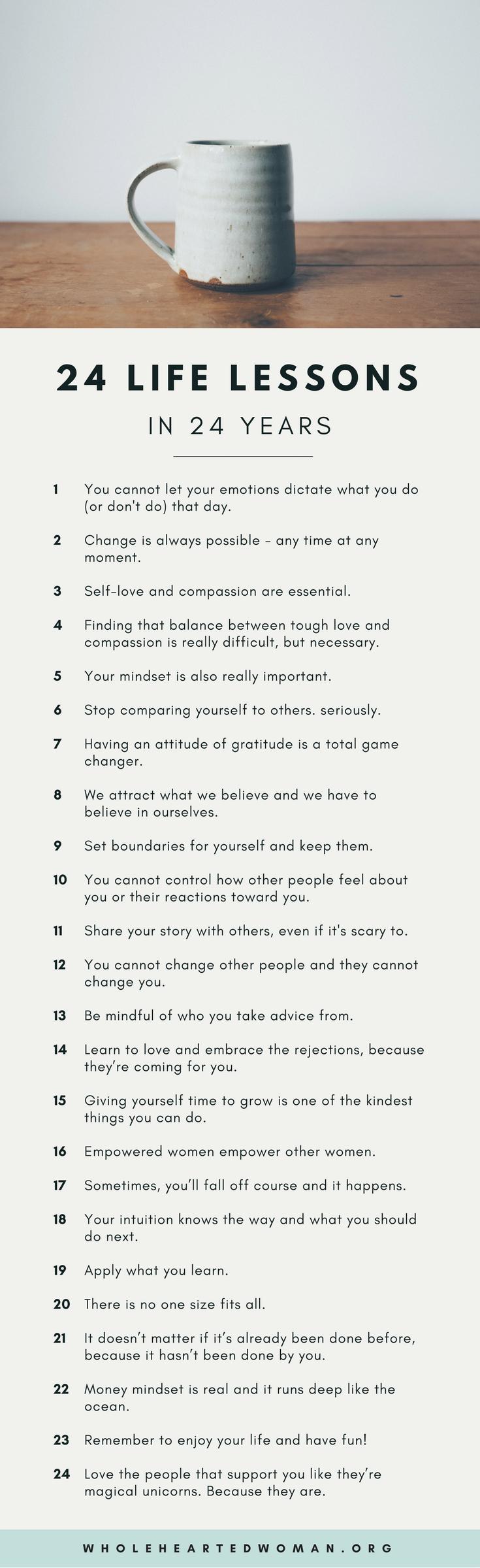 24 Life Lessons In 24 Years 24 Life Lessons in 24 Years | Life Advice | Personal Growth & Development | Mindset