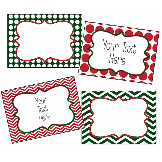 christmas labels editable christmas labels chevron and polkadots
