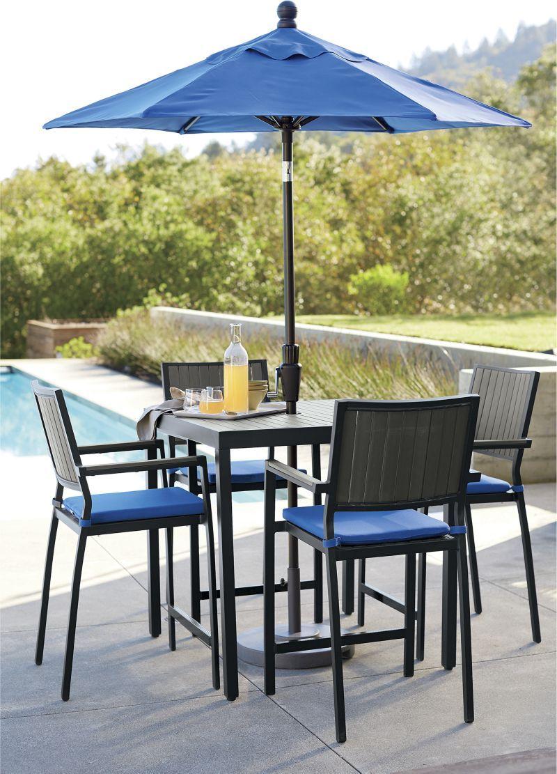 Alfresco grey dining chair with sunbrella cushion