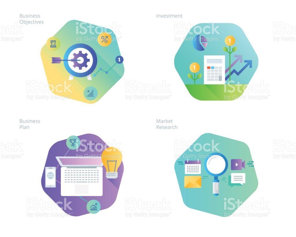 Icones Do Projeto Material Definido Para O Plano De Negocios E Objetivos Pesquisa De Mercado Investimentos Il Objetivos Bancos De Imagens Pesquisa De Mercado