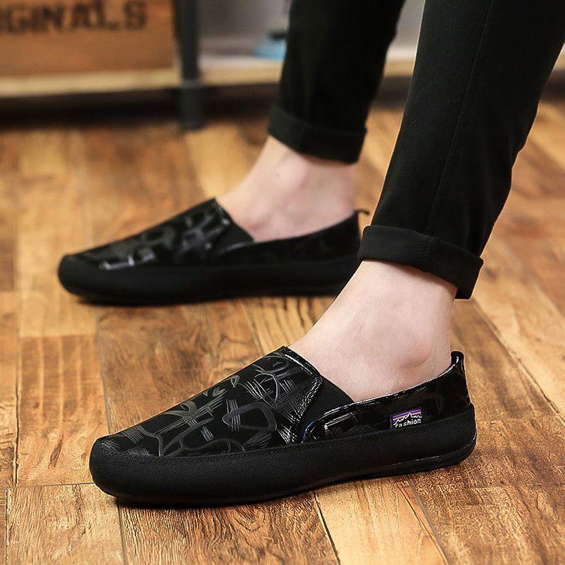 7562c1cd2ebd Fashion Floral Slip on Canvas Shoes Men Flats Summer New 2018 Light Casual  Shoes Man Loafers Espadrilles Plus Size 45 46