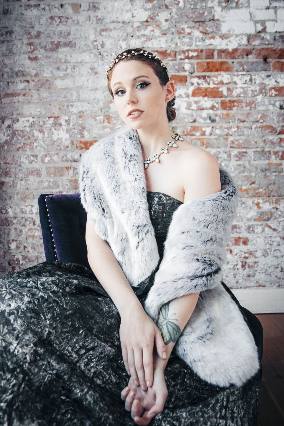 ff31c0ca5d0 Old Hollywood Elegance with Winter Faux Fur Shawl
