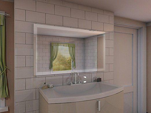Badspiegel mit Beleuchtung New York M303L4: Design Spiegel ...